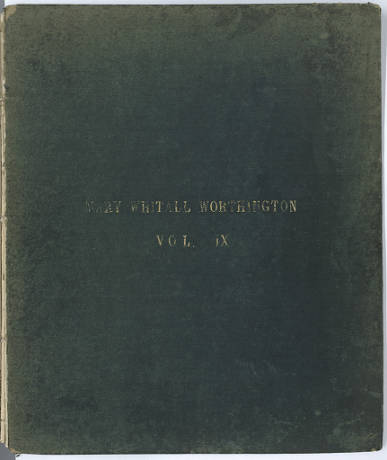 Mary Whitall Worthington diary, volume 9