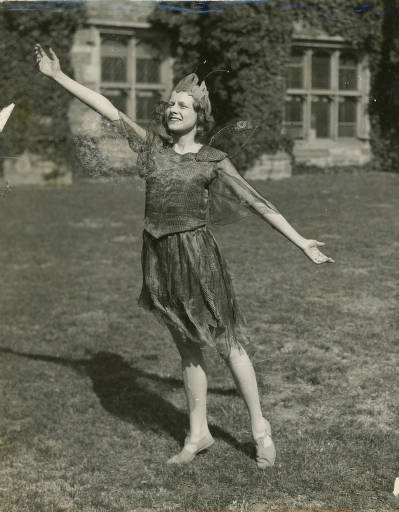Student dressed in costume for a play on Big May Day 1932