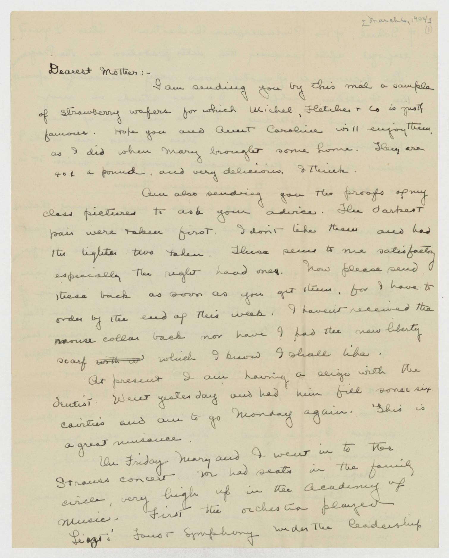 Dorothy Foster papers, Folder 8