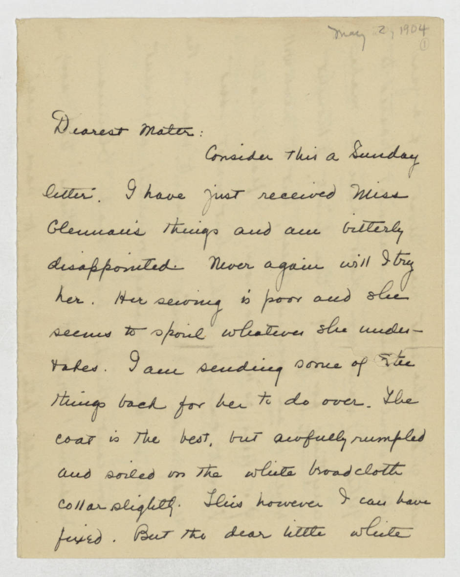 Dorothy Foster papers, Folder 9