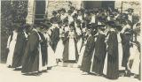 Graduating students on Taylor steps
