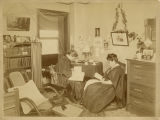 Anna Powers and Umeko Tsuda in a Bryn Mawr College dorm room