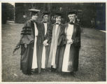 Four graduate students during Commencement